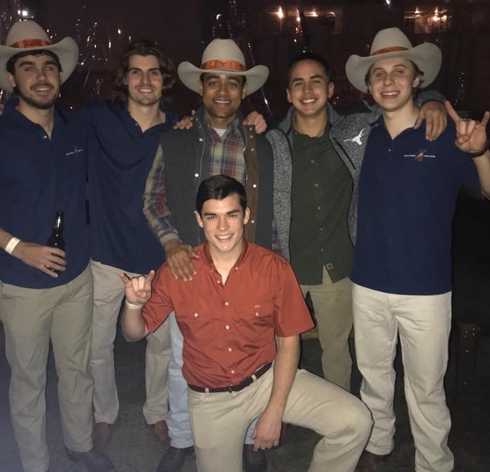 Texas Silver Spurs - Top Row (Left to Right): Jared Coco (Fall '15), Travis Sauber (Fall '15), Isaiah Carter (Fall '14), Eric Kasper (Fall '14), Ben Whitaker (Fall '14)Bottom Row: James Robertson (Spring '17)