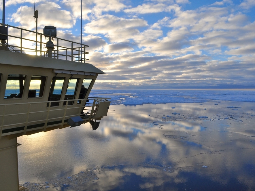The Bridge of the U.S. Research Icebreaker Nathaniel B. Palmer