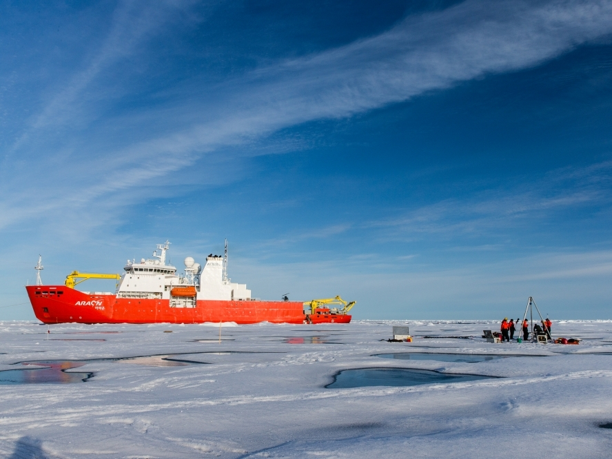 Ice Tethered Profiler deployment from the Korean Polar Research Institute's IBRV Araon.