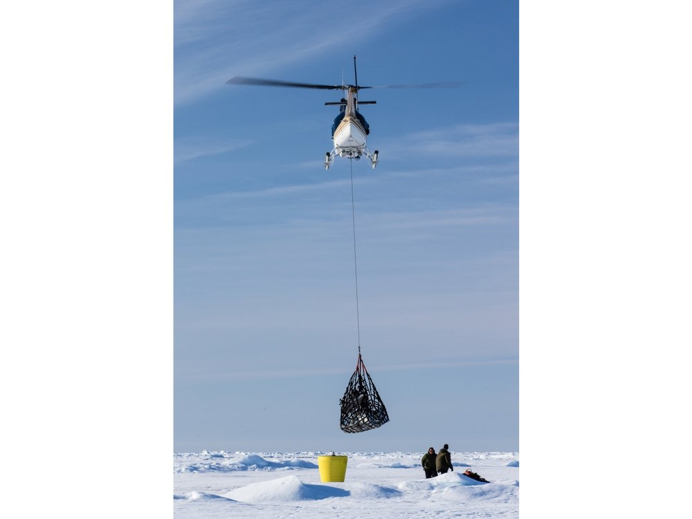 Backhauling gear following an Ice Tethered Profiler deployment.
