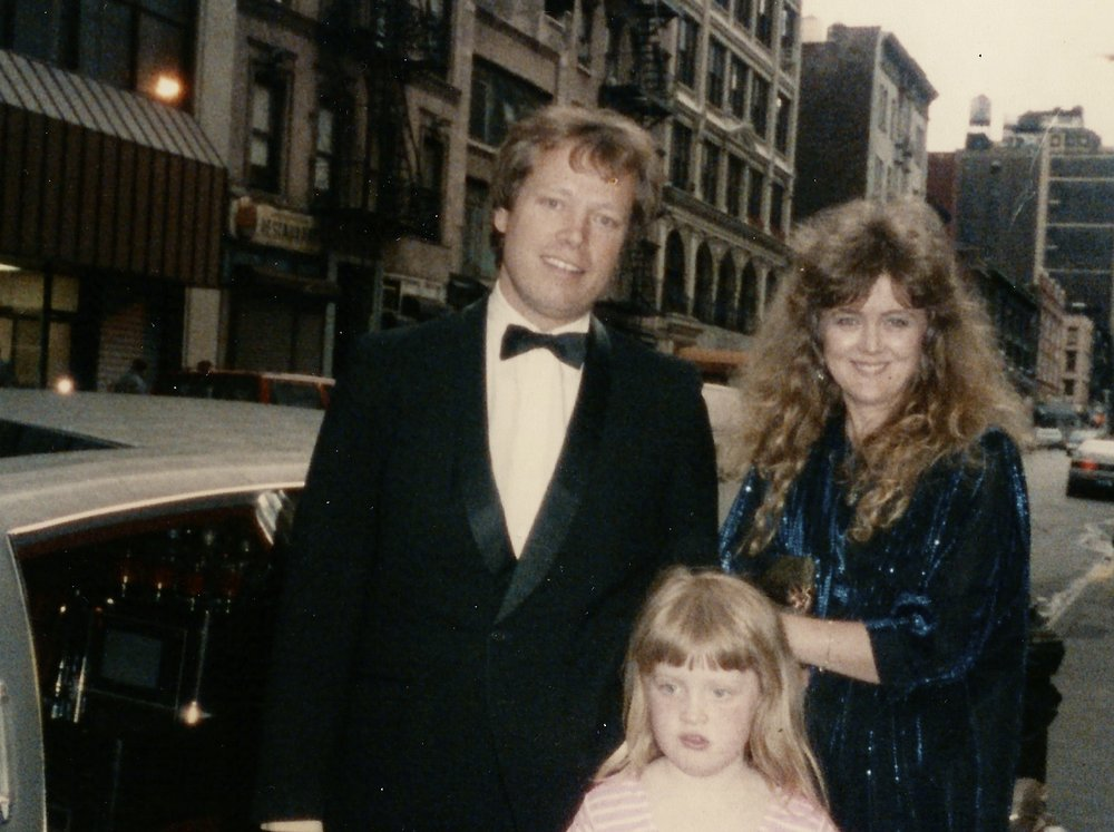 Fiona, her husband Bob Whitmore and daughter Anastasia  in NY in the 80's