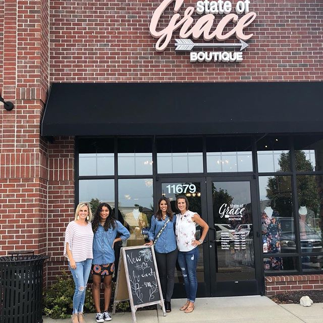 We are in Fishers at State of Grace boutique today. Come se us IN friends.  #shopwithapurchase #newhopegirls