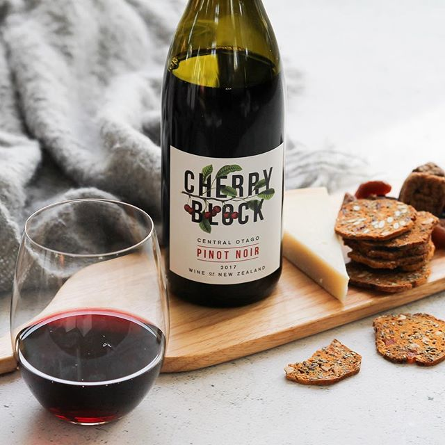 It's cold out there! We recommend sparking up the fireplace and snuggling up in front of the telly with a glass of Cherry Block Pinot Noir, it's what we're doing!🍒◼️🍷 . #nzwine #cherryblock #centralotago #pinotnoir #wine #cherry #newzealand #antipodeansommelier #sommelier #spicy #lush #orchards #vineyard #winelabel #brand #premium #finewine #special #winery #winestagram #winetime #lovewine #winebottle