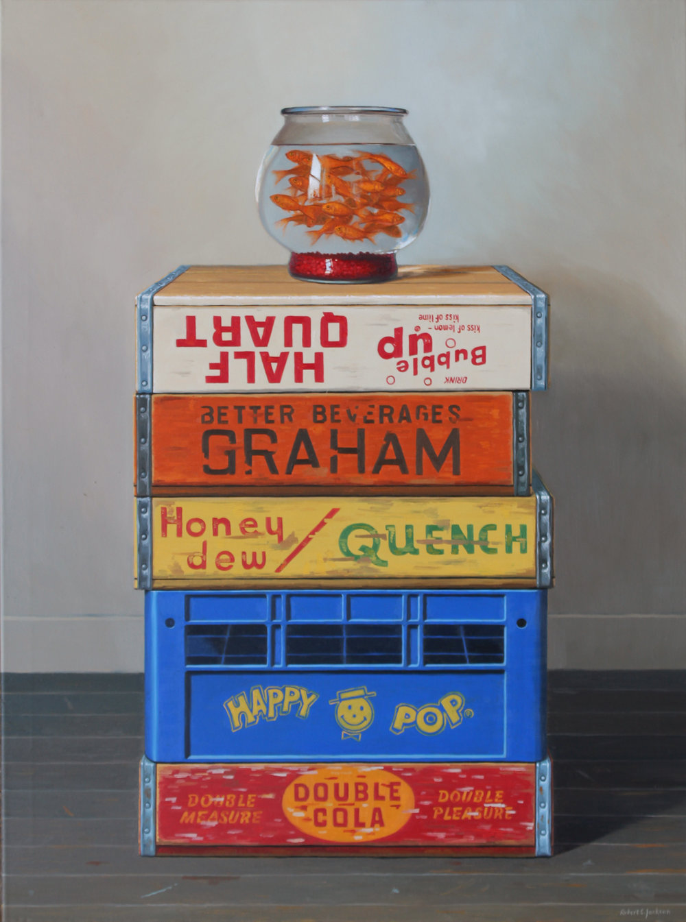 "Goldfish Collection, Oil on linen 40"" x 30"""