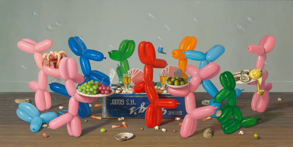 "High Stakes, Oil on linen 30"" x 60"""