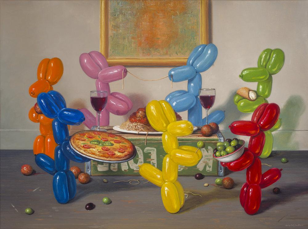 """Italian Feast, Oil on linen 30"""" x 40"""""""
