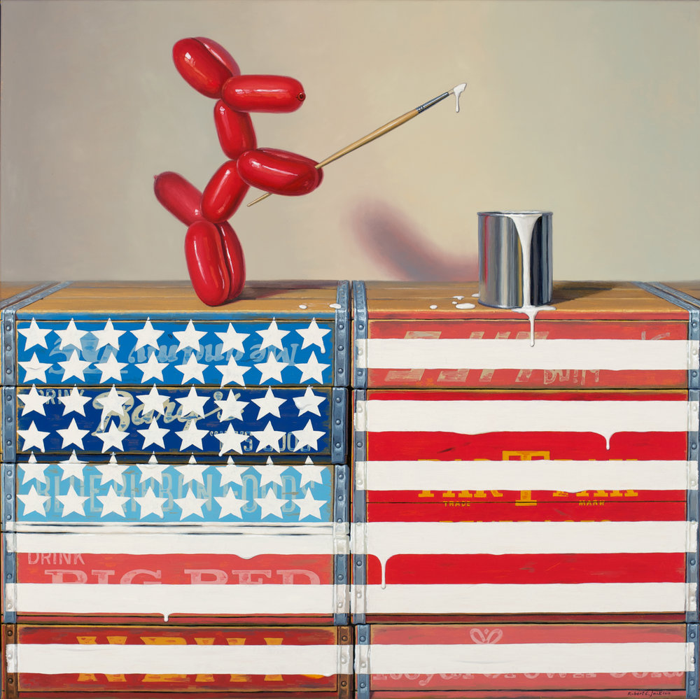 "Pop Betsy Ross, Oil on linen 36"" x 36"""