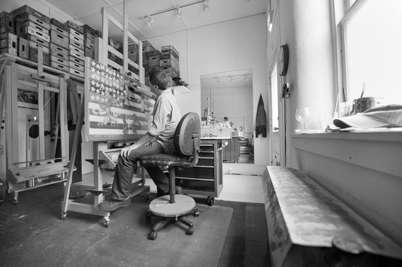 Robert C Jackson in Kennett Square Studio
