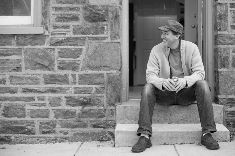 Robert C Jackson Sitting on Stoop