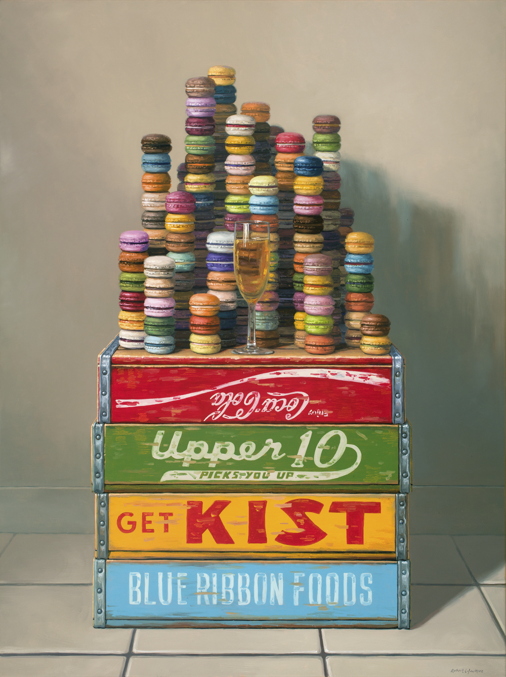 "Macaroons, Oil on Linen 40"" x 30"""