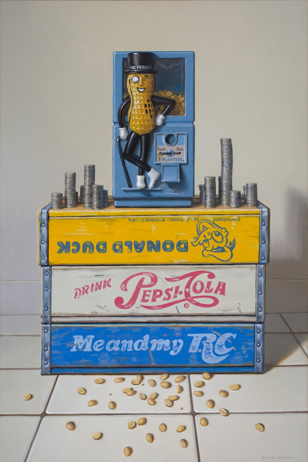 "Just Nuts, Oil on Linen 36""x 24"""