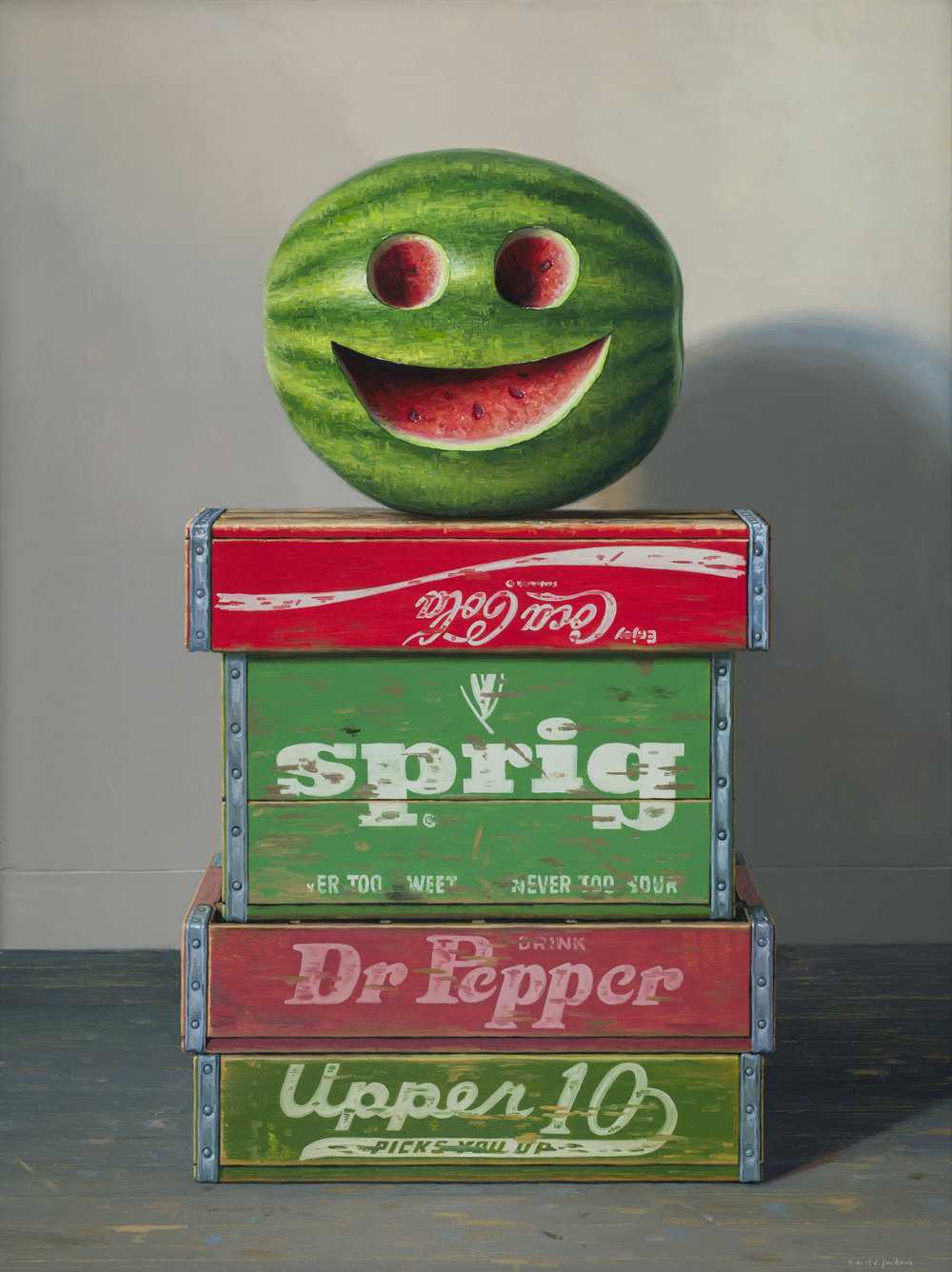 "Melonhead, Oil on linen 40"" x 30"""