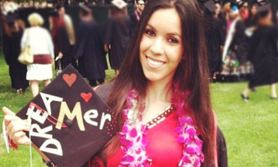 Maribel wore a Dreamer on her Cap during her graduation.