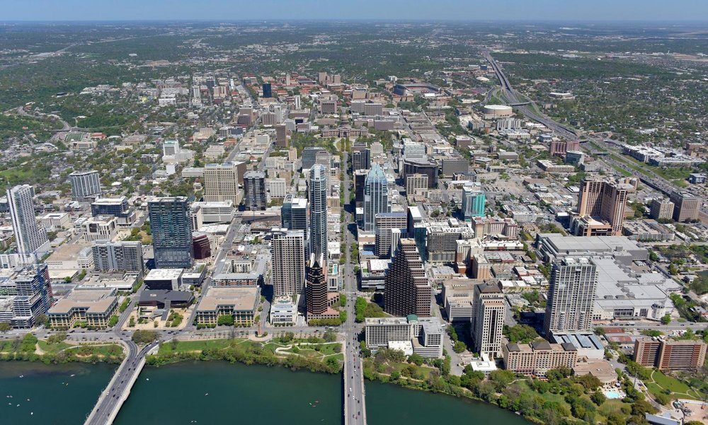 Texas Capitol, Austin, Texas - Austin Aerial Photography - Austin, TX