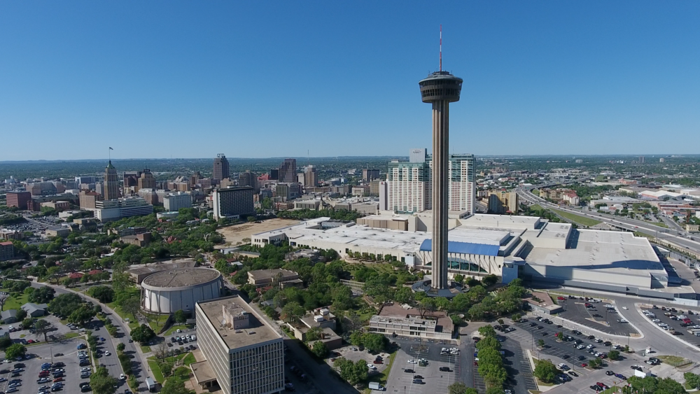 Downtown CBD, San Antonio, Texas Drone Photo