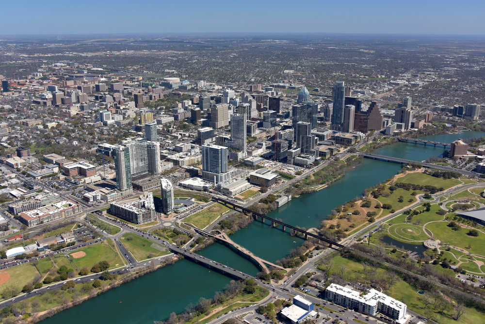 Downtown CBD, Austin, Texas - Austin Aerial Photography - Austin Drone Video - Austin, TX