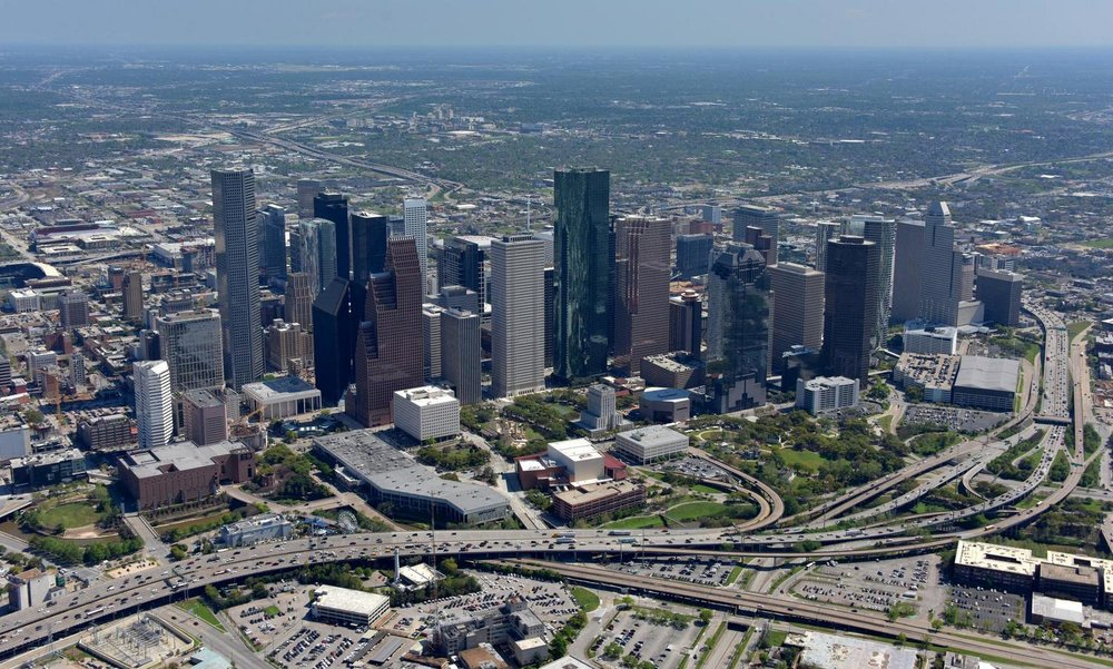 Houston CBD  - Houston Aerial Photography - Houston Drone Image - Houston Drone Video - Houston, TX