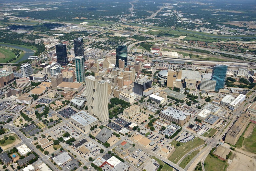 CBD, Fort Worth, Texas - Fort Worth Aerial Photography - Fort Worth Drone Photography - Fort Worth Drone Video - Fort Worth, TX