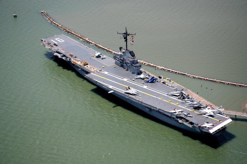 USS Lexington, Corpus Christi, Texas - Corpus Christi Aerial Photography - Corpus Christi Drone Photography