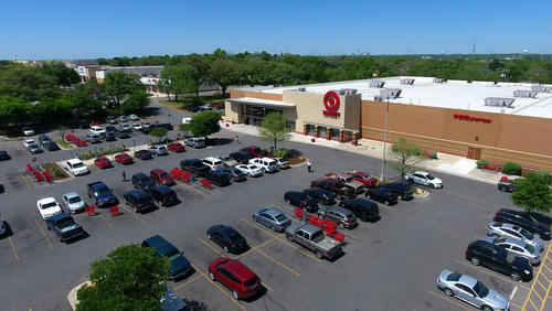 Target Retail Store,   New Braunfels Aerial Photographer - Aerial Drone Image - Aerial Drone Video - New Braunfels, TX - Comal County, Texas