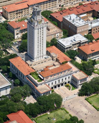 UT Tower, Austin, Texas - Austin Aerial Photography - Austin Drone Photography - Austin Real Estate Photography - Austin, TX
