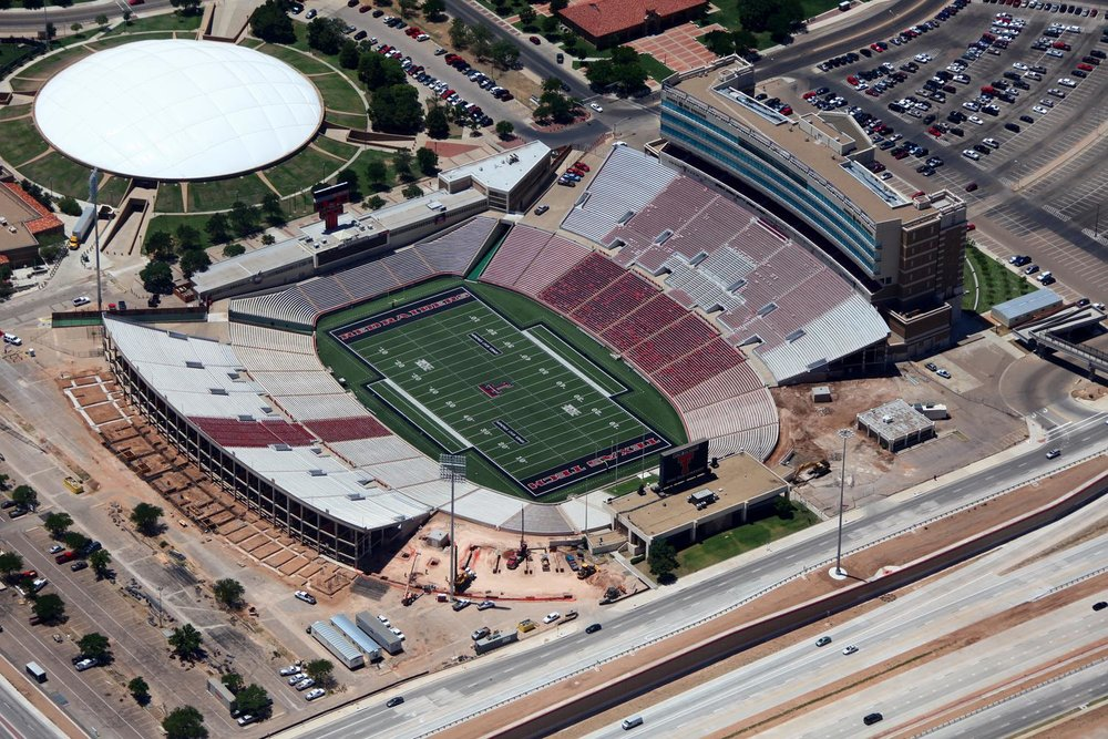 Jones at&t Stadium - Lubbock Aerial Photographer - Aerial Drone Image - Aerial Drone Video - Lubbock, TX - West Texas