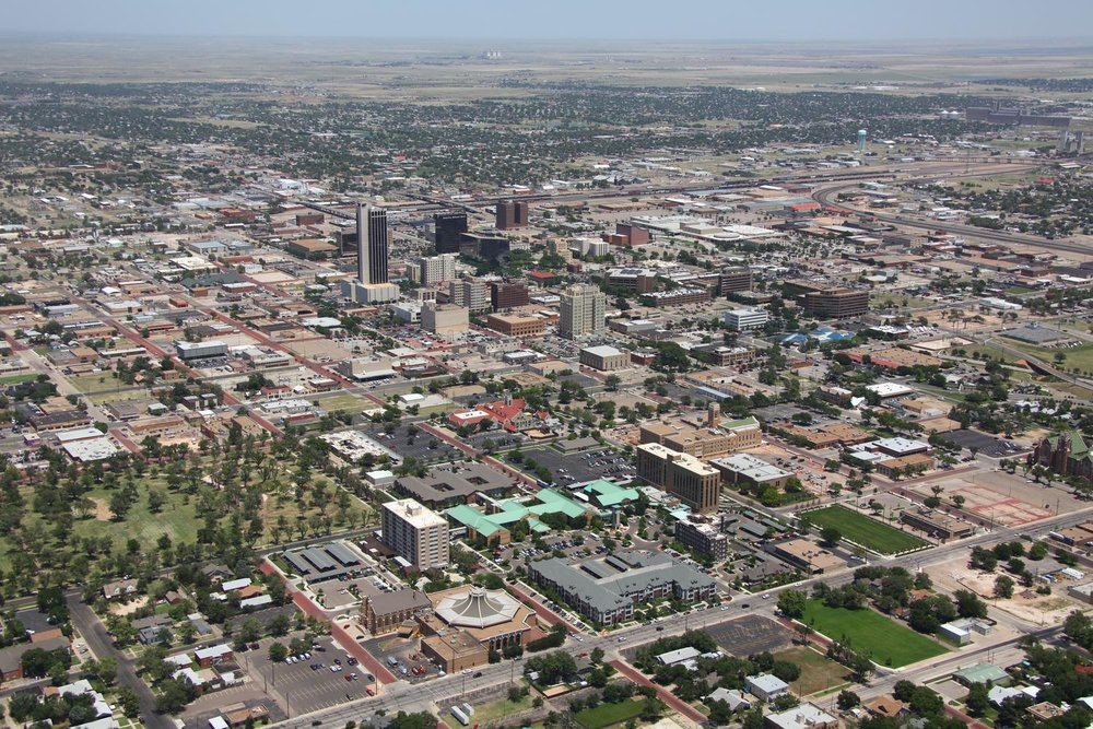 Amarillo CBD , Amarillo, Texas - Amarillo Aerial Photographer - Aerial Drone Image - Aerial Drone Video - Amarillo, TX - West Texas