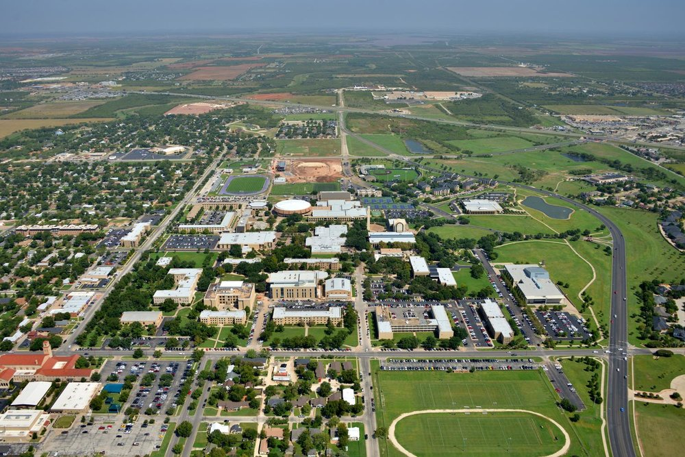 Abilene Christian University  Downtown CBD- Abilene Aerial Photographer - Aerial Drone Image - Aerial Drone Video - Abilene, TX - West Texas