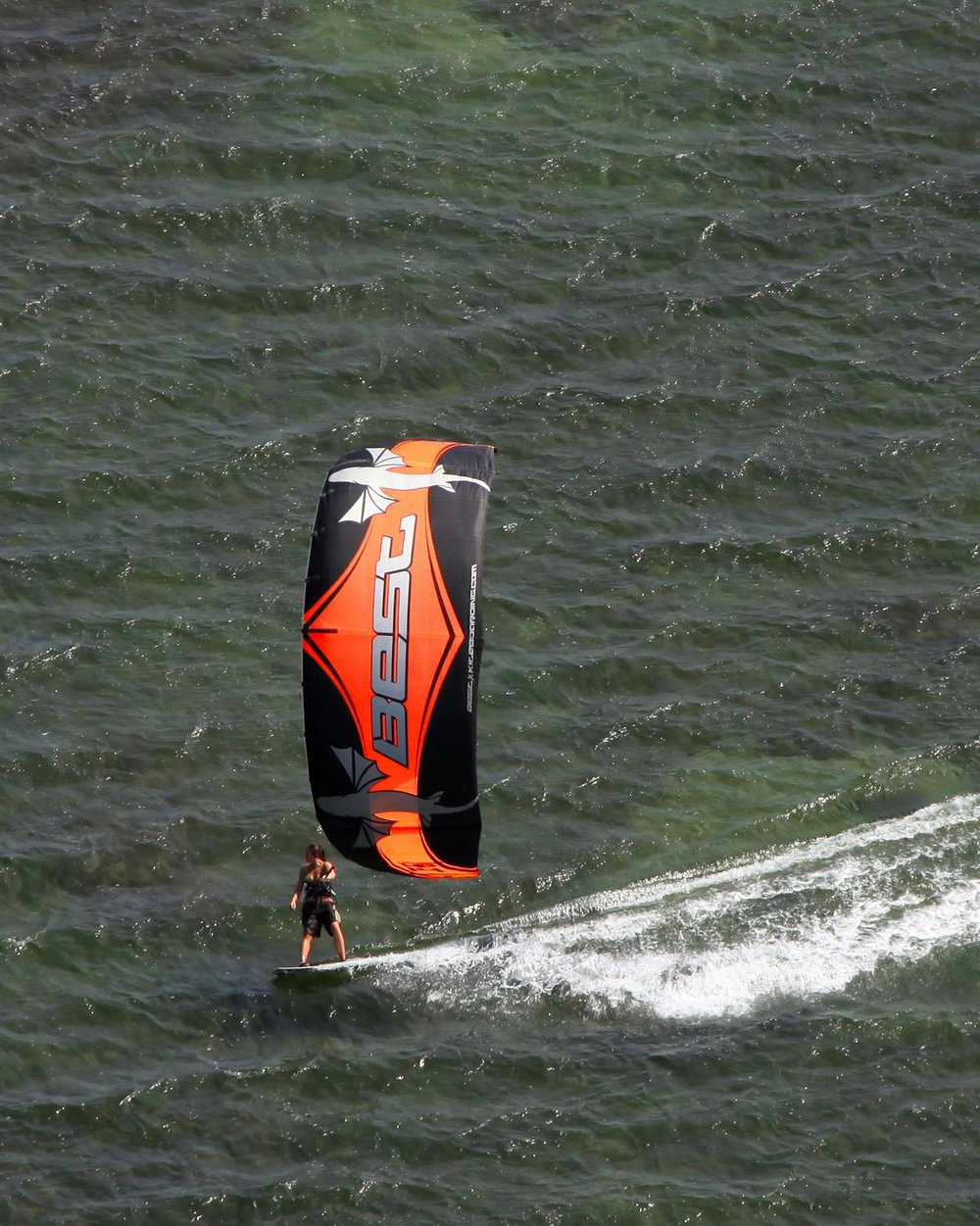 Kite Boarding at South Padre Island, Harlingen, Texas - Harlingen Aerial Photographer - Aerial Drone Image - Aerial Drone Video - Harlingen, TX - Rio Grande Valley, Texas