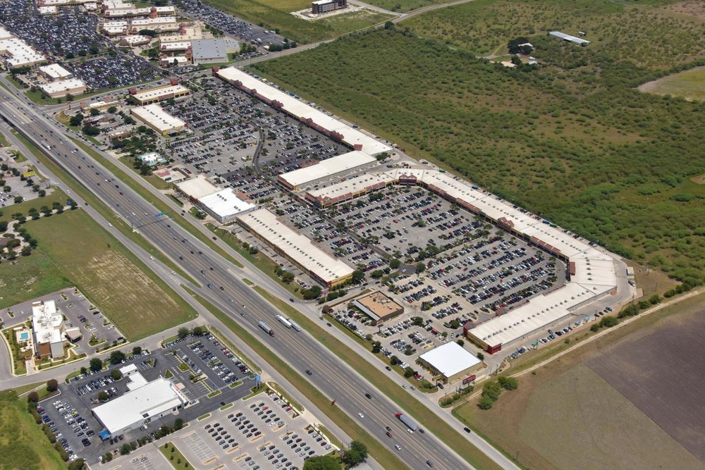 Tanger Outlet Mall, New Braunfels, Texas - New Braunfels Aerial Photographer - Aerial Drone Image - Aerial Drone Video - New Braunfels, TX - Comal County, Texas