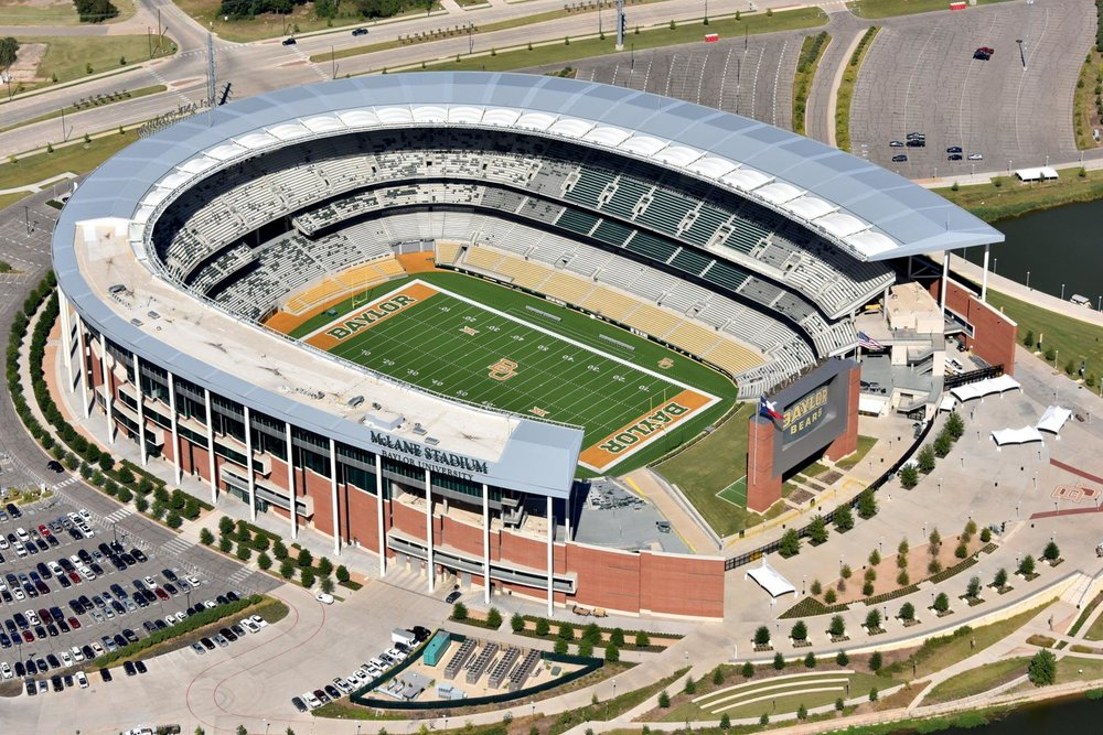 McLane Stadium - Baylor Bears Football - Waco Aerial Photographer - Aerial Drone Image - Aerial Drone Video - Waco, TX - Texas