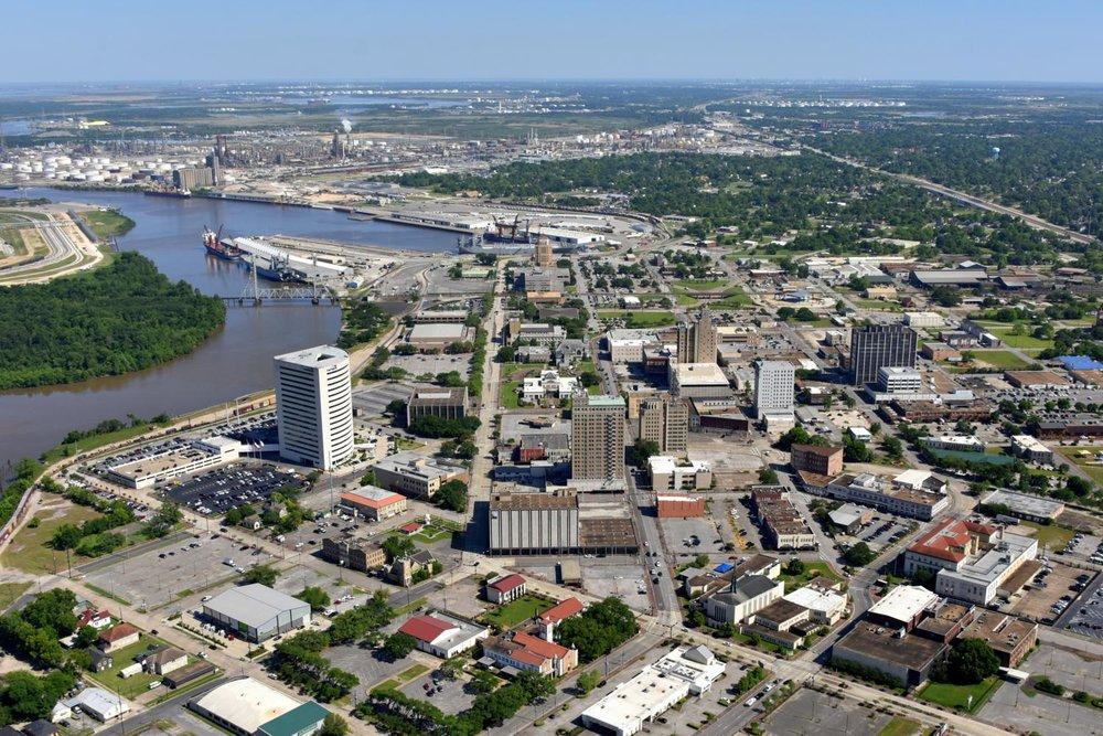 Beaumont CBD, Beaumont, Texas - Beaumont Aerial Photographer - Port Arthur Aerial Drone Image - Orange Aerial Drone Video - Beaumont, TX - East Texas