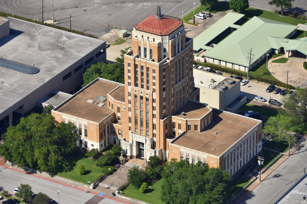 Jefferson County Courthouse, Beaumont, Texas - Beaumont Aerial Photographer - Port Arthur Aerial Drone Image - Orange Aerial Drone Video - Beaumont, TX - East Texas