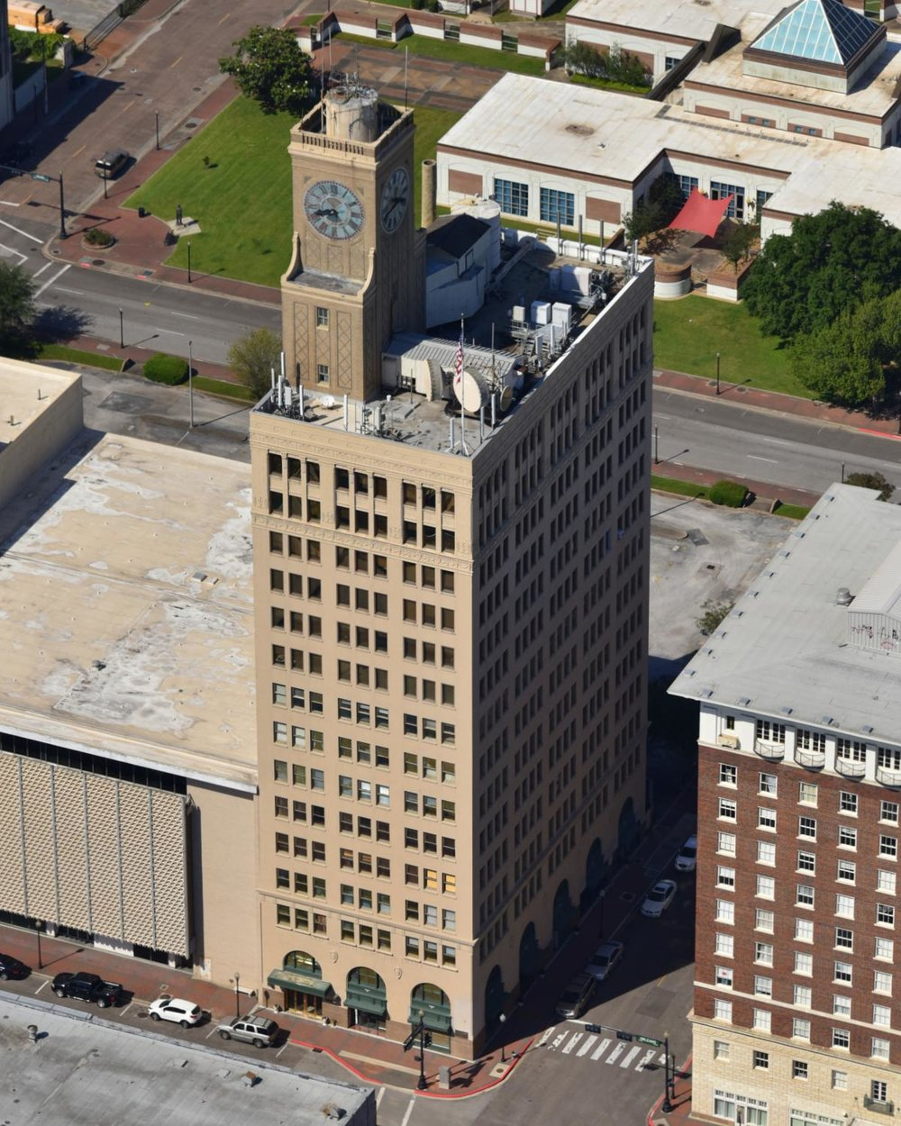 San Jacinto Life Building, Beaumont, Texas - Beaumont Aerial Photographer - Port Arthur Aerial Drone Image - Orange Aerial Drone Video - Beaumont, TX - East Texas