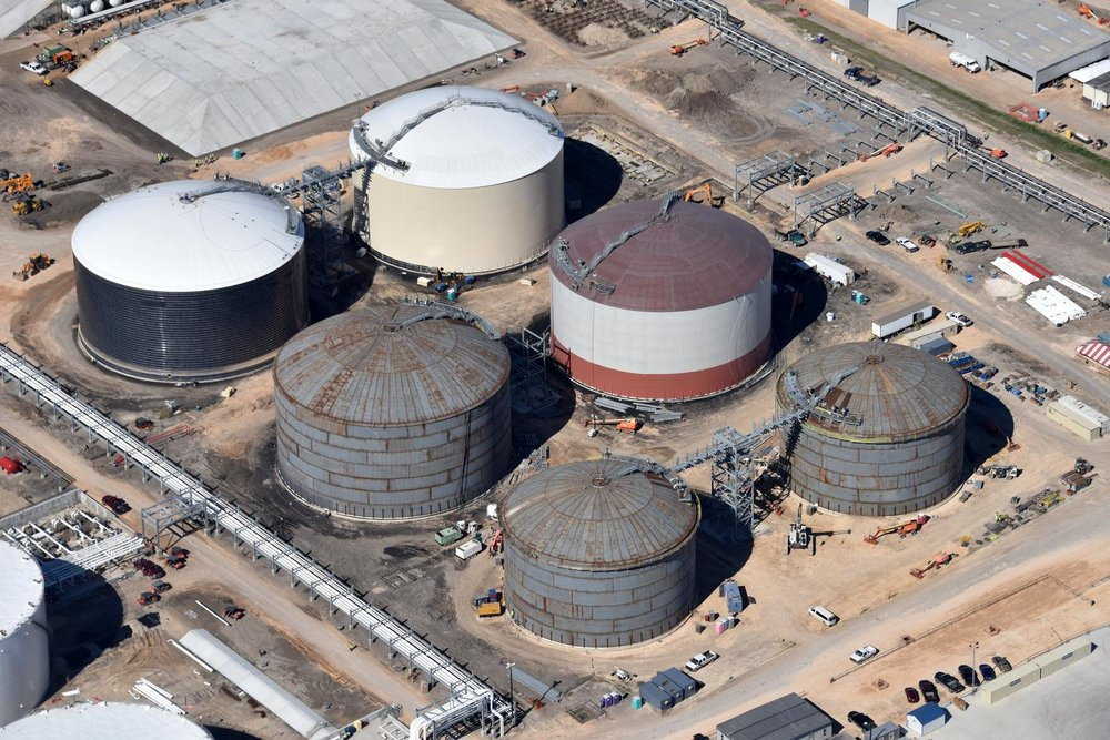 Texas energy photography, aerial, drone, oil and gas, solar, wind energy, tank farm, Houston, TX