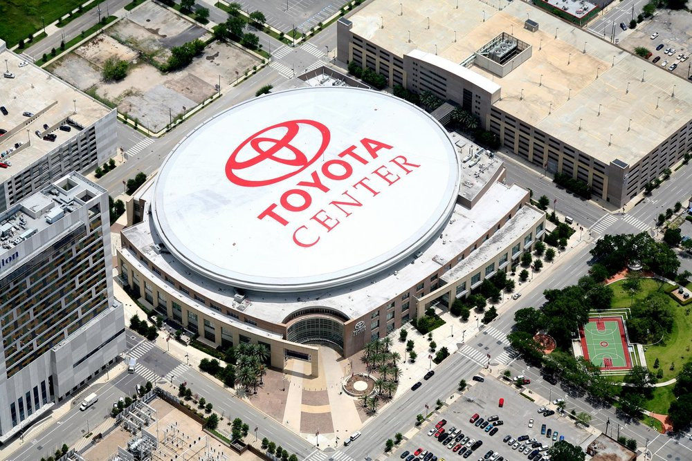 Toyota Center/Houston Rockets, Houston, Texas - Houston Aerial Photography - Houston Drone Photography - Houston, TX