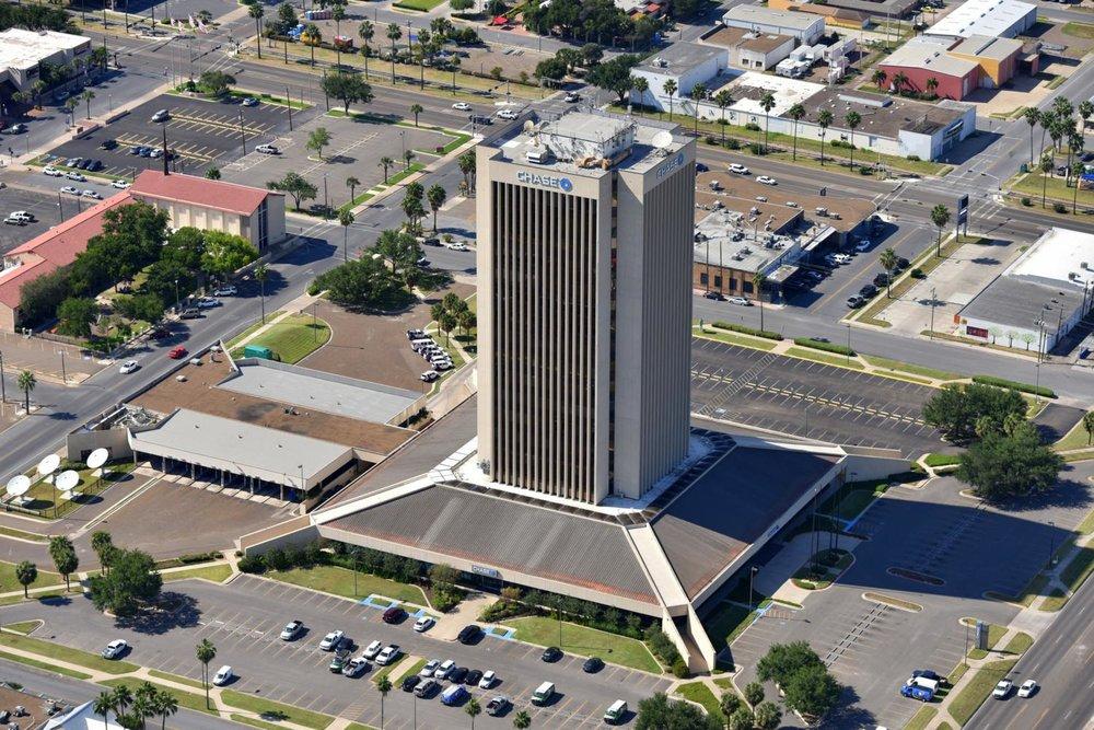 Chase Bank Building, McAllen, Texas - McAllen Aerial Photography - McAllen Drone Photography - McAllen Aerial Photographer - McAllen, TX - Rio Grande Valley, Texas