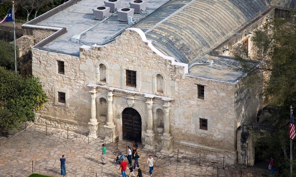 The Alamo, San Antonio, Texas - San Antonio Aerial Photography - San Antonio Drone Photography - San Antonio, TX