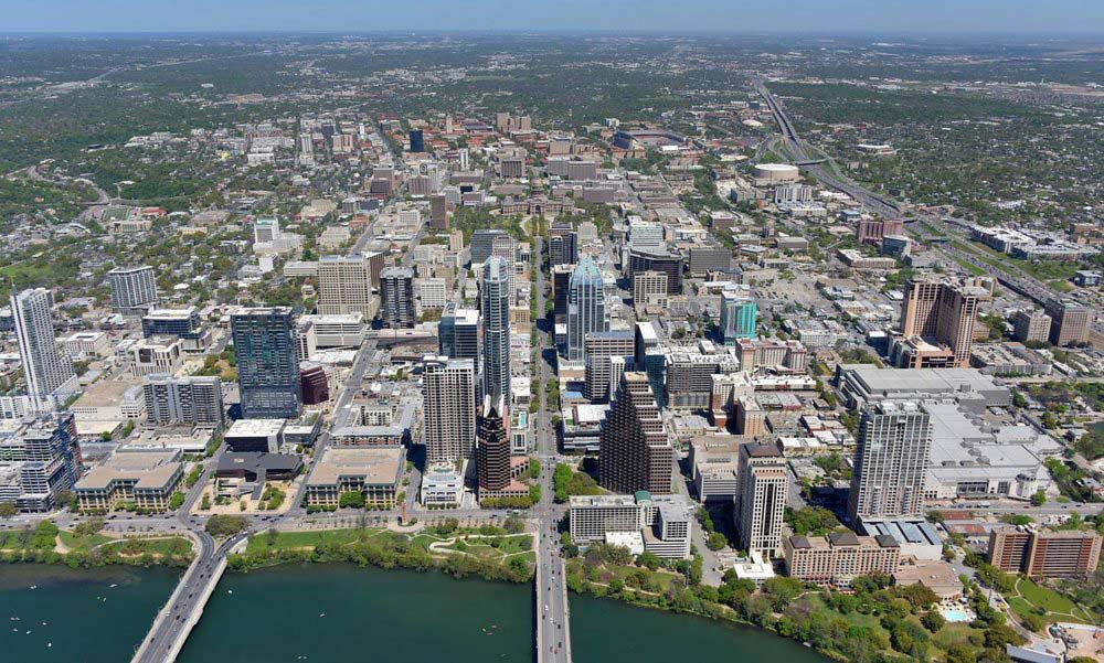Austin CBD, Austin, Texas - Texas Aerial Photography - Texas Real Estate Photography - Texas Drone Photography - Austin, TX
