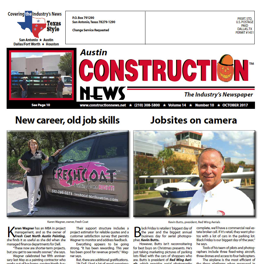 Austin aerial photographer featured in Austin Construction News-Austin Aerial Photography