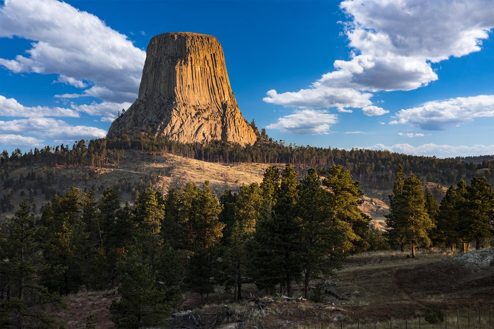 Devil's Tower, WY       (C) 2017 by Michael Woods