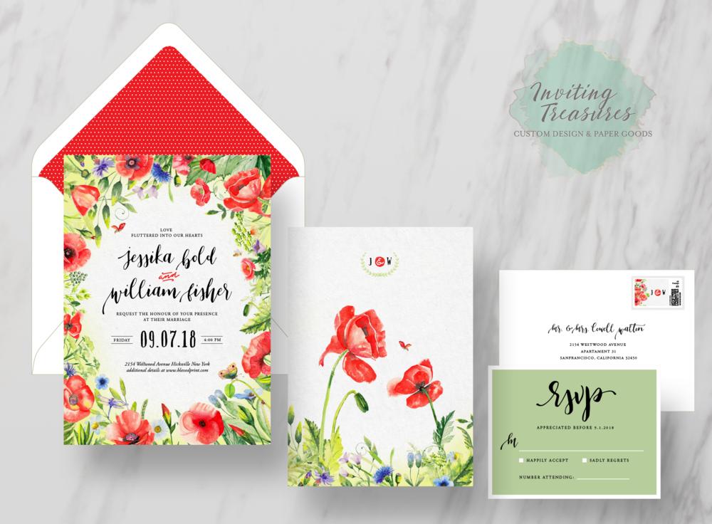 Spring Theme Invitations