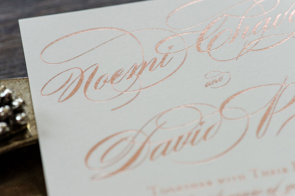 Rose Gold Foil Printing