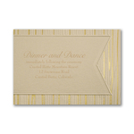 Wood and Foil - Reception Card