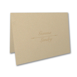 Wood and Foil - Thank You Cards