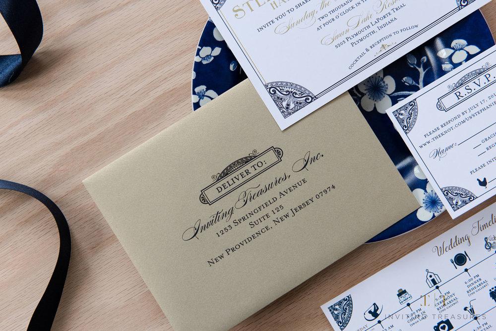 Gold Shimmer Envelopes