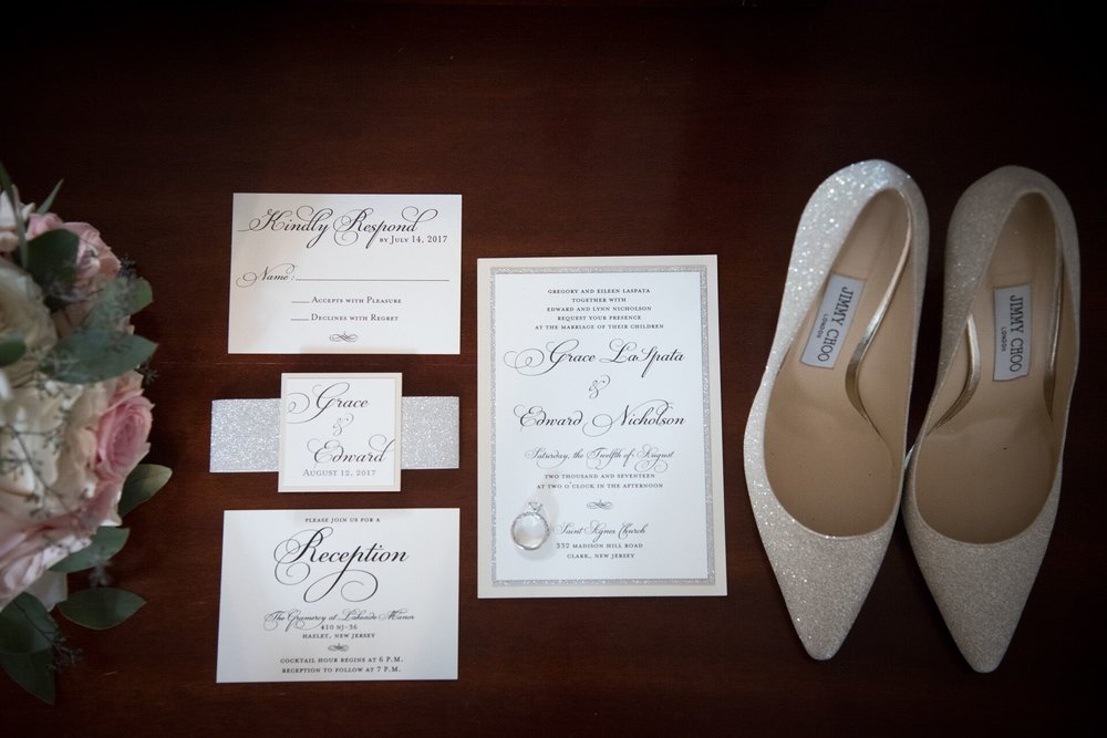 Client's Inspiration for her Wedding Suite