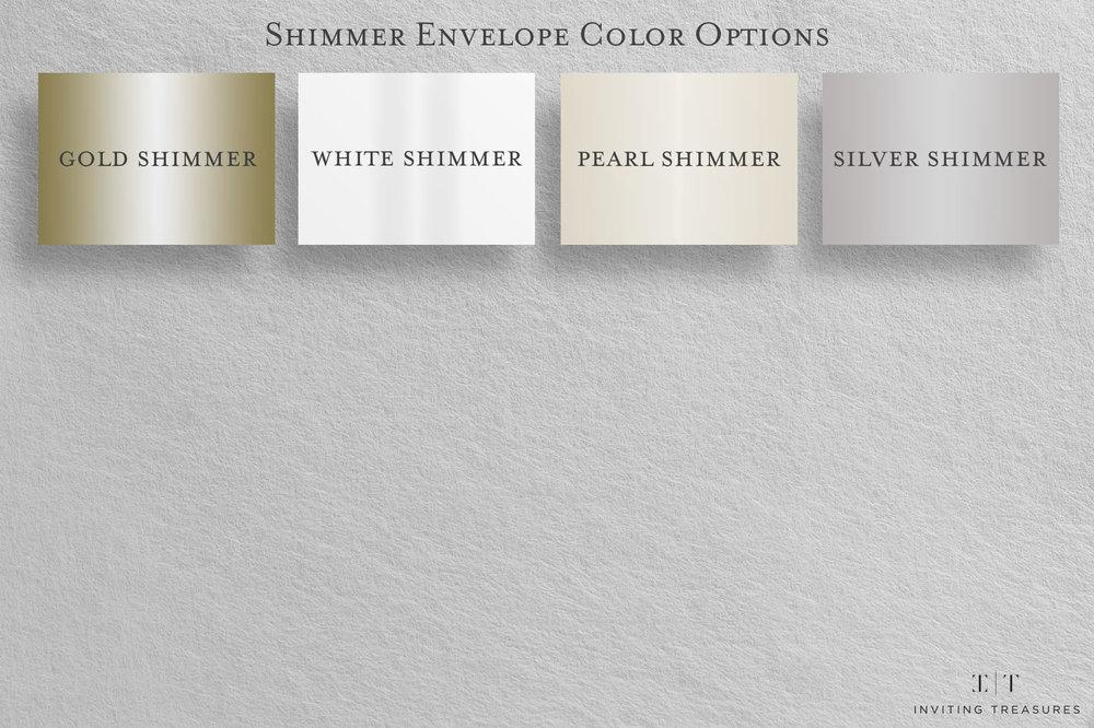 Copy of Shimmer Envelope Color Options