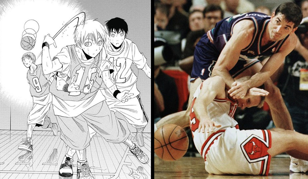 I think Kuroko is not fully utilizing his powers of misdirection. Perhaps instead of Vanishing Drive he should have developed a Vanishing Shove...or a Vanishing Dick Kick.