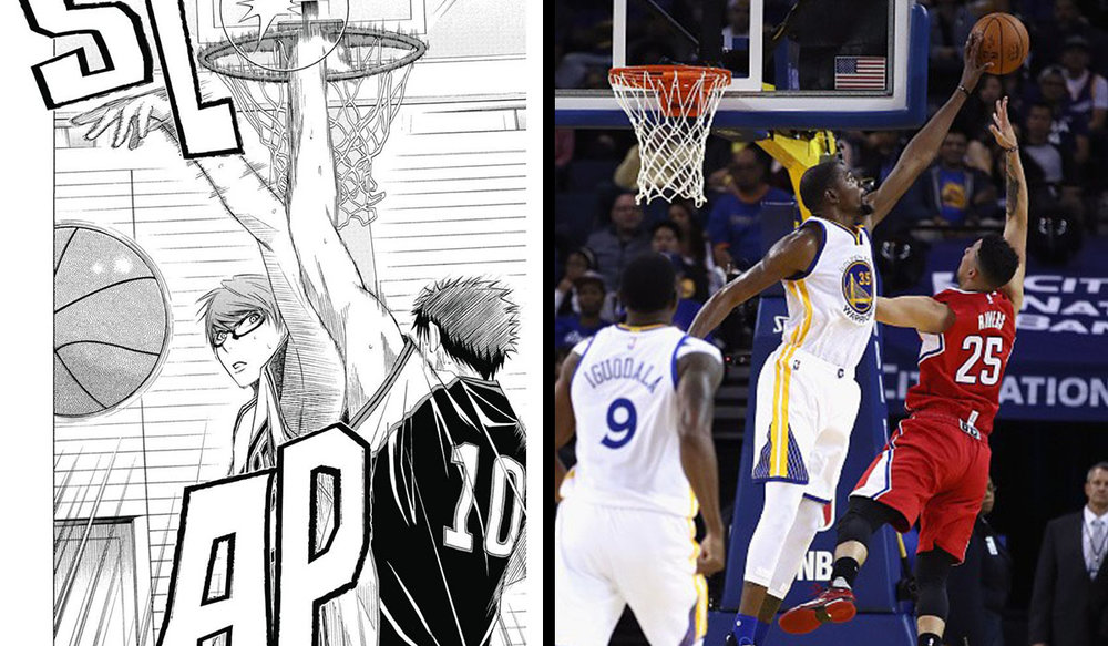 Athleticism means the ability to jump...and block shots. Looks like Curry can't do everything Midorima can...